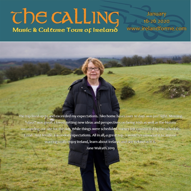 Jane Walrath Music and Cultural Tour of Ireland Testimonial